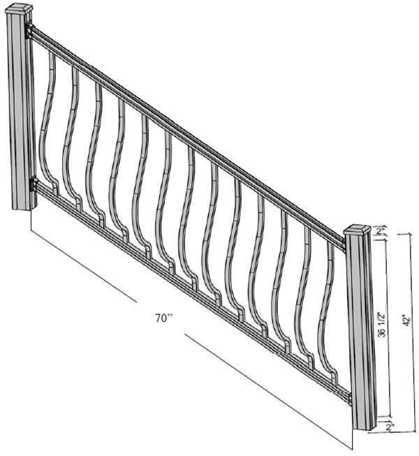 alpine stairs dimensions