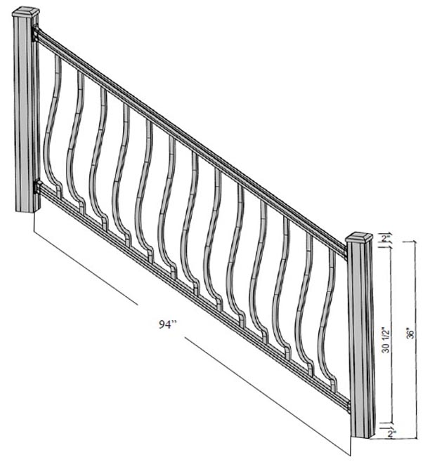 bethany stairs dimensions