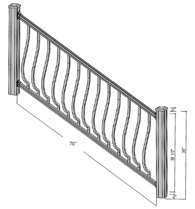 princeton stairs dimensions