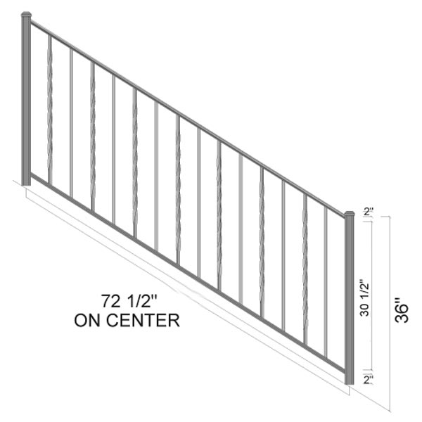 trenton stairs dimensions